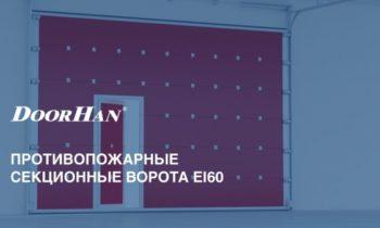 Противопожарные секционные ворота DoorHan  (видео)