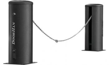 Новые модернизированные комплекты цепных шлагбаумов  Chain-barrier7-PRO-base и Chain-barrier15-PRO-base